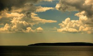 bay clouds by awjay