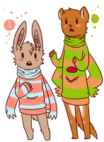 Sweater Monster Adoptables(Closed) (Customs Open) by BitterBile