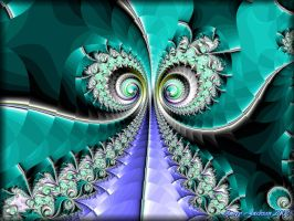 Turquoise Swirls by Actionjack52