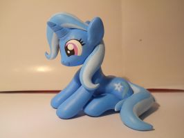Trixie sitting looking cute by EarthenPony