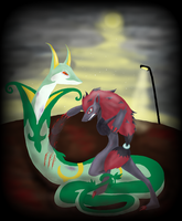 Serperior Vs Zoroark by ZappyAttack