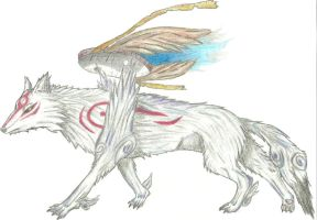 Wolf God Amaterasu by DL2288