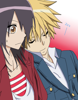 Misaki and Usui by shonohime