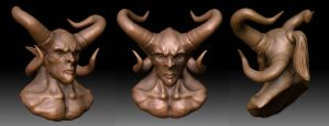 demon bust by OmrZrn