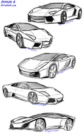 Lamborghini sketches by camaro1