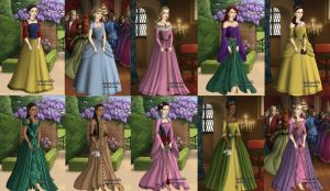 Disney Tudor Princesses by CharlieLou107