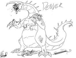 Denver the last dino...thing by big-black-and-scary