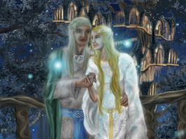 Galadriel and Celeborn by Pridipdiyoren