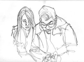 sketches of people on the train 4 by jaiquanfayson
