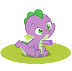 Silly baby Spike by QueenCold