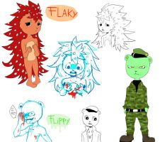 Happy tree friends / Flaky y Flippy by Ikinari