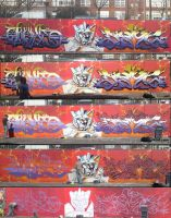 step by step graffiti mural W London By Brave by Brave-one