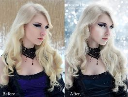 Frozen Heart Before-After by DigitalDreams-Art