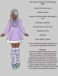 Natsumi Ref Sheet ( New DA Id) by sdale154