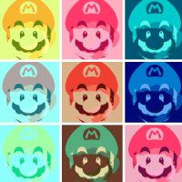 Super Mario Pop Art 9 panel by DevintheCool