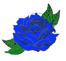 Blue Rose by RookieAndSangoLove