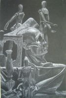 White Charcoal Still Life by ThePat