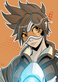 Overwatch - Tracer by PaperMoon92