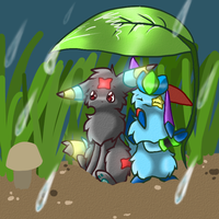 Under the rain by XillyWilly