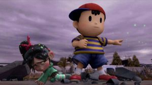 Ness protects Vanellope by Elemental-Aura