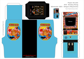 Donkey Kong Arcade template by AUSTINMEADOWS
