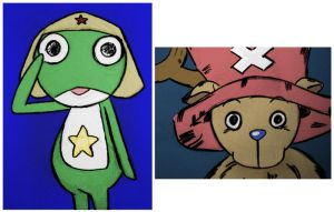 keroro and chopper colored by ruhi91