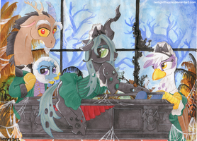 At Disneyland- The Haunted Mansion by TwilightFlopple