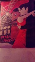 Moulin Rouge Painting  by LouiseArt2016