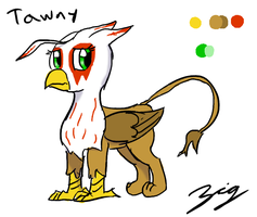 Young Griffon Tawny - Concept by The-Zig