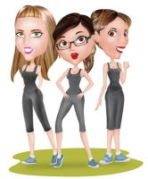 fitness trio by Ashmuth
