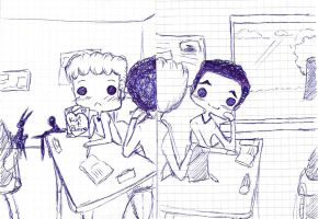 Klaine-school by WeasleyTwin