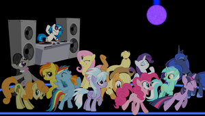 MLP FIM Wallpaper: Ponies on the Dance Floor by Game-BeatX14