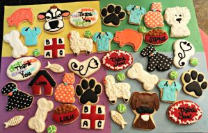 Animal Clinic Cookies by RoronoaKAtie