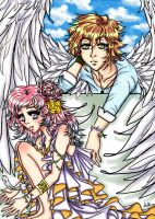 Her Guardian Angel by pinkystrawberricutie