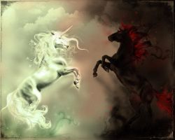 Unicorn vs. Nightmare by Taure-Taulea