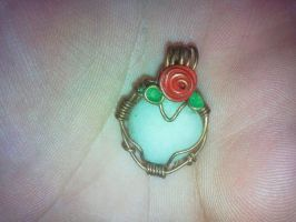 tiny rose pendant by PK-Photo