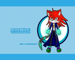 Commission: Emily the Hedgewolf Sonic Channel by skysong-angel