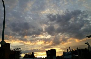sky in the evening by poisen2014