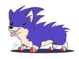 Sonic the Hedgecorg by JoieArt