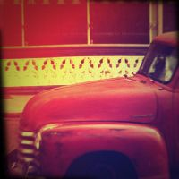 Holga Print 2 - Retro Car by uselessdesires