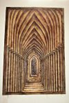 Gothic Arched Corridor One Point Perspective by mariachughtai