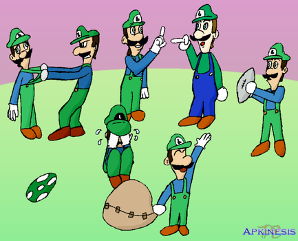 The Many Faces of Luigi in YTP by Apkinesis