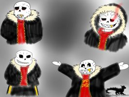 Undertale AU: Underfell-Sans sketches by BlackDragon-Studios