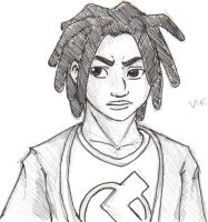 Static Shock - sketch by growly