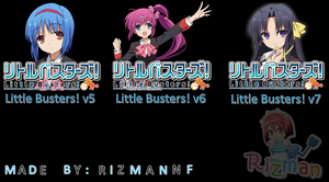 Little Busters! v5, v6, and v7- Anime Icon by Rizmannf