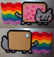 Jumbo double sided Nyan cat magnet by Alondra-chui