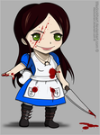 Drawing - Chibi Alice McGee by TifaxLockhart
