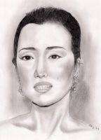 Gong Li by artemiscrow