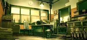 Bioshock Infinite: Finkton Office by Benlo