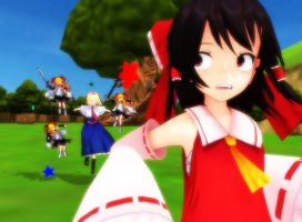 MMD Run Reimu RUN! by Magic-yumi